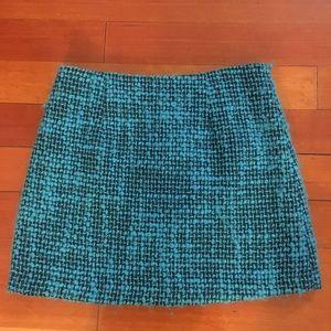 Alice and Olivia Blue Tweed Skirt